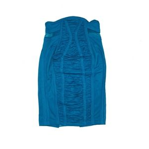 Marciano Blue Strapless Ruched Sexy Dress